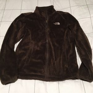 Fuzzy North Face Full Zip Jacket
